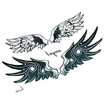 Amazon Com 10 Pcs Angel Evil Wing Waterproof Body Arm Temporary Tattoo Sticker Beauty