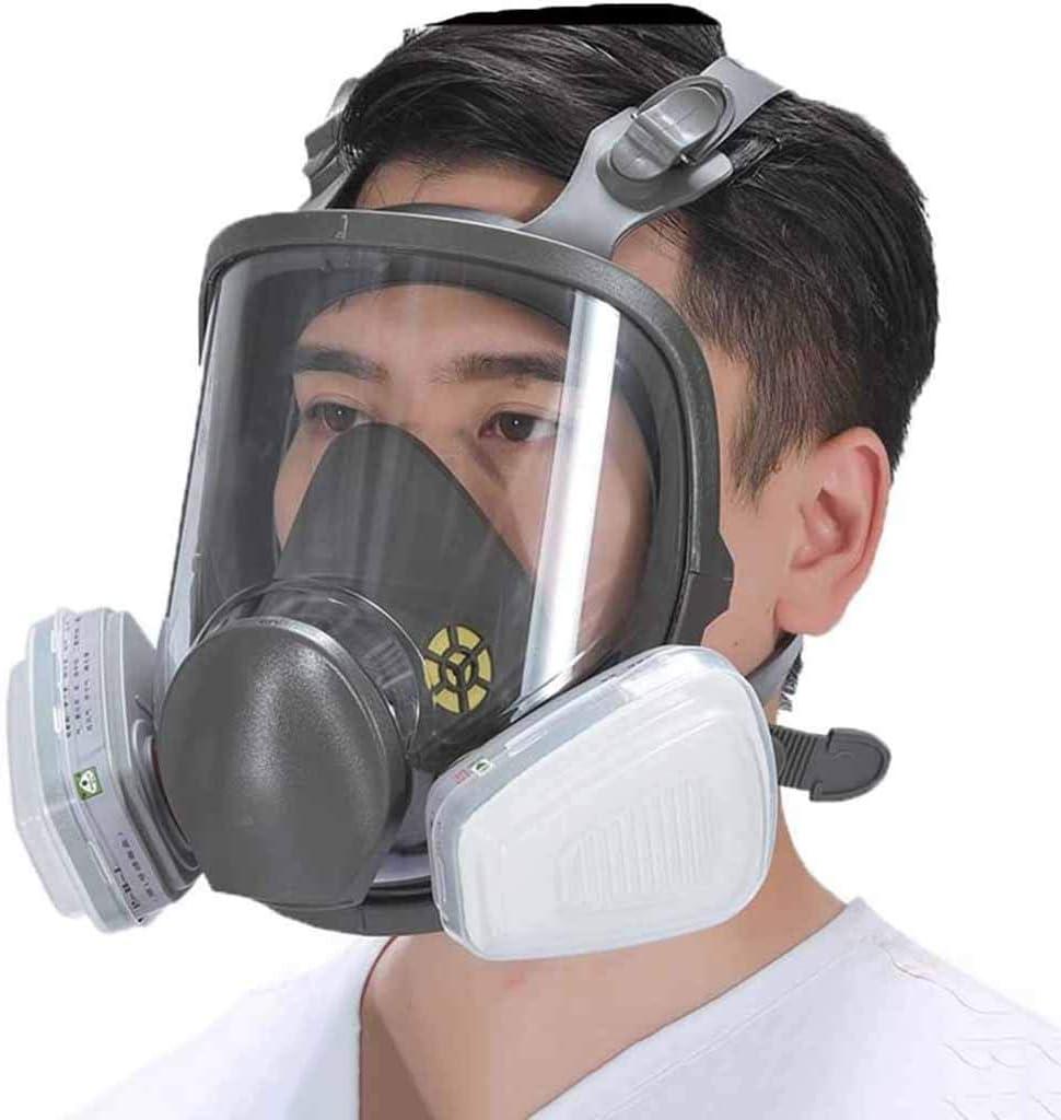 Cuthf - Máscara respiradora de cara completa con filtro autocebado tipo máscara de gas para ojos y protección respiratoria para todo tipo de personas