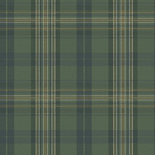 - Chesapeake MAN330212 Austin Plaid Wallpaper, Green