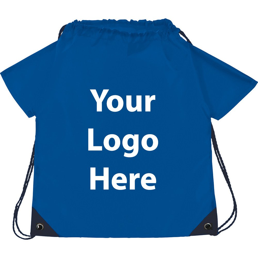T Shirt Drawstring Sportspack - 200 Quantity - $2.30 Each - PROMOTIONAL PRODUCT / BULK / BRANDED with YOUR LOGO / CUSTOMIZED by Sunrise Identity