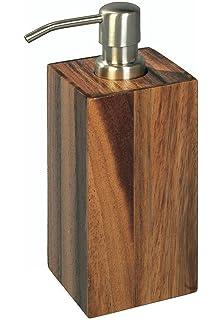 Möve Teak Seifenspender, Farbe wood, 7x7x20 cm: Amazon.de: Küche ... | {Seifenspender holz 90}