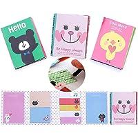 Windup Sticky Note 180 Pages Folding Mini Animal Memo Pad - Random Styles - Set of 2 Pads