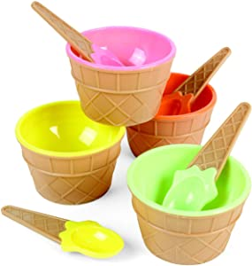 Fun Express Ice Cream Dishes | 12 Count | Great for Ice Cream Party, Kid's Birthday Celebration, Party Decor