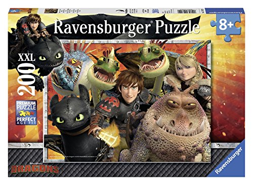 Ravensburger How to Train Hicks, Astrid and the Dragons Jigsaw Puzzle (200 (200 Pc Ravensburger Kids Puzzle)