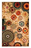 Dean New Medallion Multi colored Area Rug 5x8,carpet,Soft Rug,Living Room,dining room, foyer