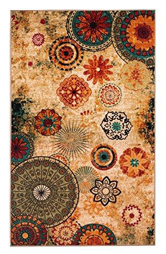 (Dean New Medallion Multi colored Area Rug 5x8,carpet,Soft Rug,Living Room,dining room, foyer)