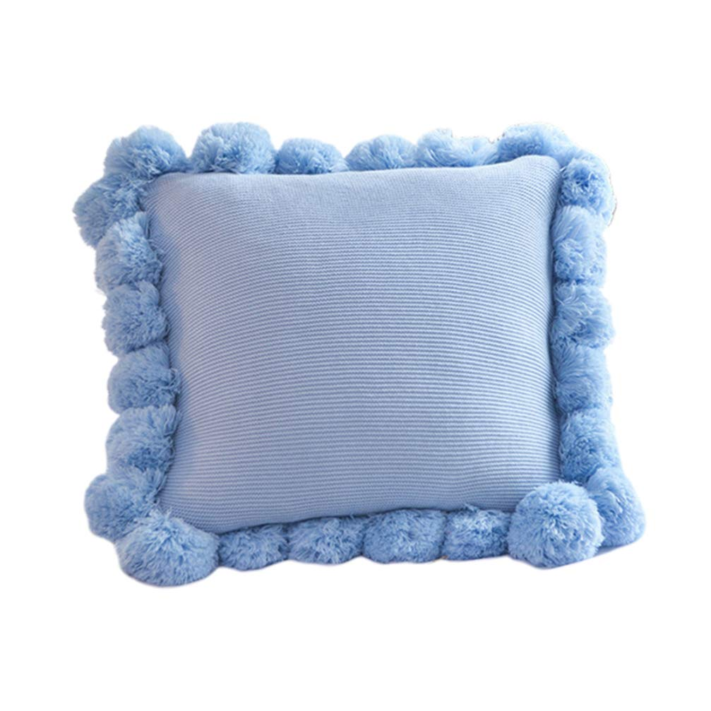 LIOOBO Square Form Stuffer Pillow - Premium Hypoallergenic Polyester Pillow Core - Contain Blue Ball Edge Pillow Covers 18'' x 18'' by LIOOBO