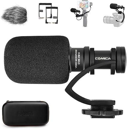 comica CVM-VM10II Microfono Video, Mini Micrófono Camara Reflex, Microfono Shotgun Direccional Micrófono DSLR, Micrófono Condensador Supercardioide Direccional para Smartphone: Amazon.es: Electrónica