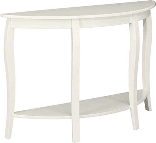 Ravenna Home Anne Marie Half-Moon Storage Curved Leg Console Entry Table
