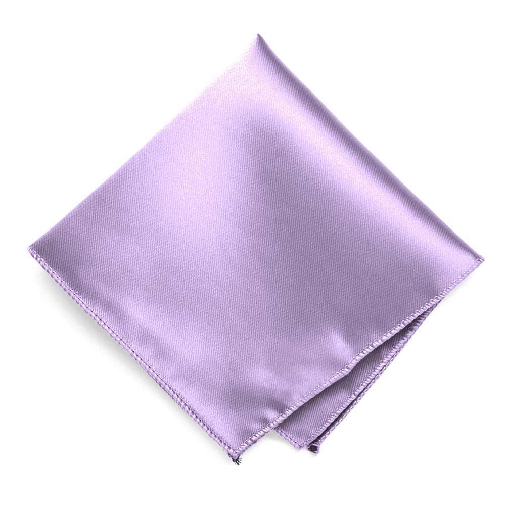 TieMart Lavender Solid Color Pocket Square