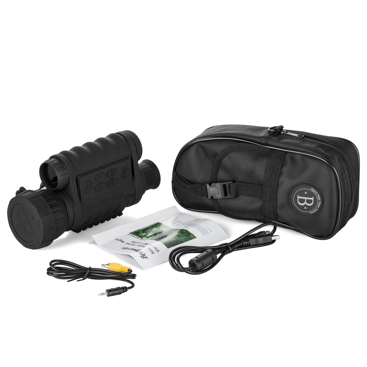 Gemtune WG-50 6x50mm HD Digital Night Vision Monocular with 1.5 inch TFT LCD Camera and Camcorder Function Takes 5mp Photo 720p Video from 350m Distance for night watching or observation by GemTune (Image #7)
