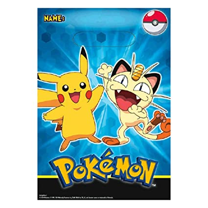 Amazon 8 Pikachu Friends Pokemon Birthday Party Plastic Gift Treat Loot Favor Bags Toys Games