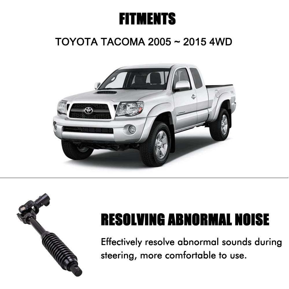 A ABIGAIL Lower Intermediate Steering Column Steering Shaft Assembly Fits for 2005-2015 Toyota Tacoma 4WD /& PreRunner 2WD or 4WD Replaces 4520304021