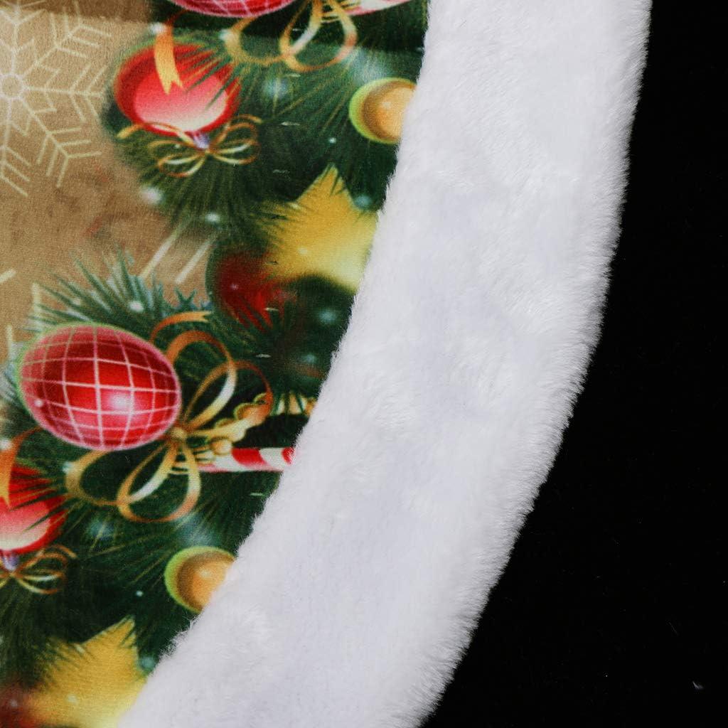 Glocke Sankt Gr/ö/ße 98cm SM SunniMix Filz Weihnachtsbaum Decken Christmas Baum Rock Tannenbaum Teppich
