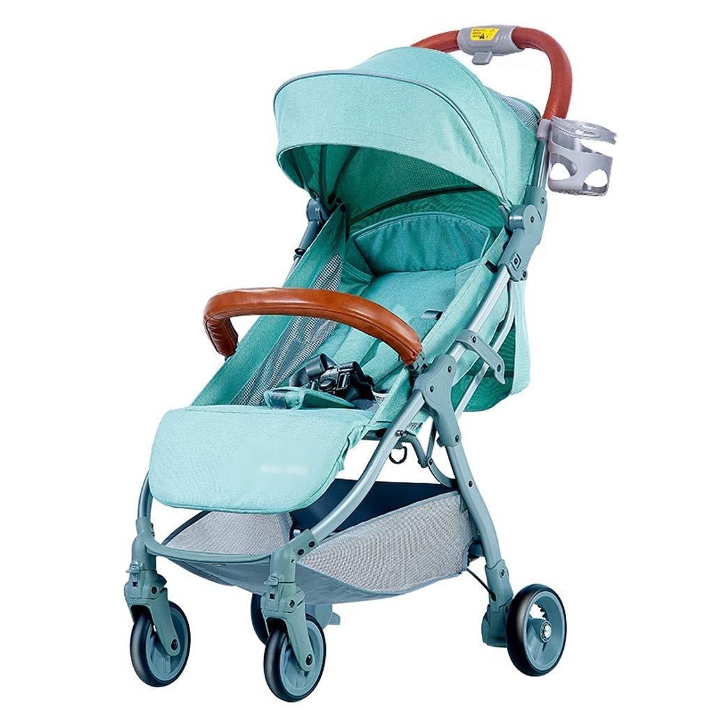 ベビーストロワー ベビーカーはリクライニングすることができます新生児のベビーカーの傘Ultra Light Portable High Landscape (色 : Green)  Green B07GXGT8J2