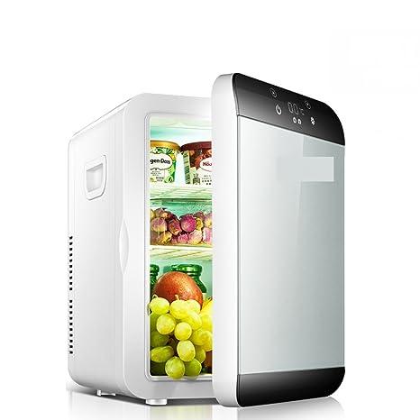 SL&BX Moderno mini refrigerador,6l mini dormitorio pequeño familia coche nevera coche doble uso refrigeración