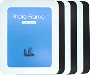 TOPINSTOCK 6-Pack Magnetic Picture Frames for Refrigerator 5 x 7 Inches 3 Black and 3 White Colors