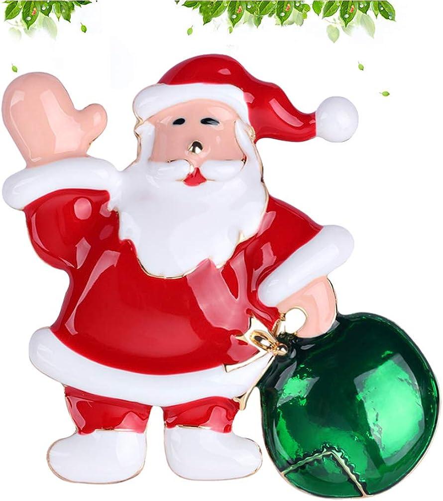 Amosfun Weihnachtsbrosche steckt Weihnachtsmann-Schmucksachen f/ür Frauenm/ädchen-Feiertagsparty fest