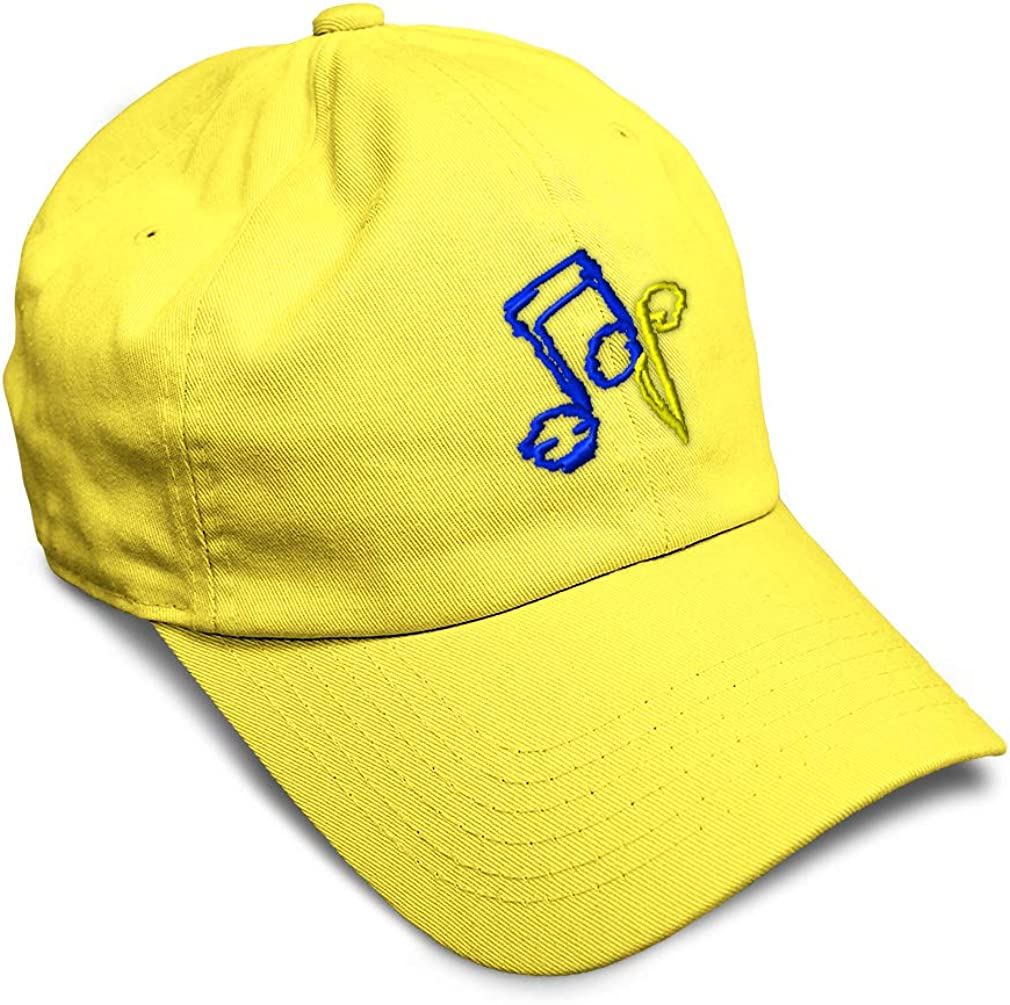 Custom Soft Baseball Cap Scribble Notes Embroidery Dad Hats for Men /& Women