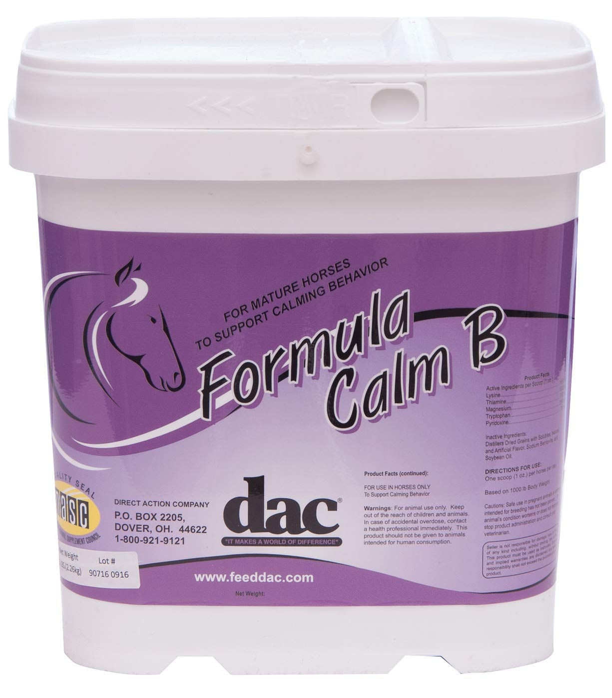 Direct Action Co dac Formula Calm B Horse Supplement by Direct Action Co
