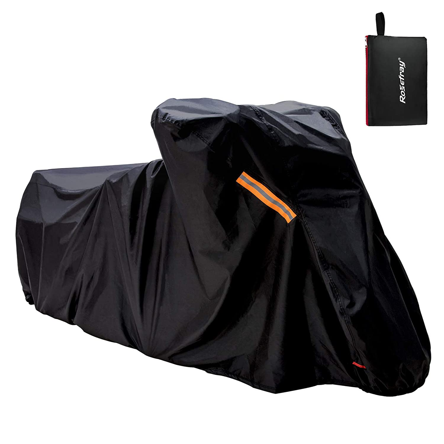 XXL,Black Sport Bike Protect Against Dust Debris Motorcycle Jacket Cruiser Touring Rosefray Motorcycle Cover ,Precision Fit up to 104 Inch Motorcycle Rain and Weather
