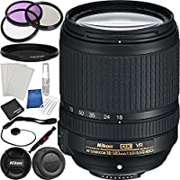 Nikon AF-S DX NIKKOR 18-140mm f/3.5-5.6G ED VR Lens Bundle with Manufacturer Accessories and Accessory Kit (19 Items)
