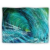 Kess InHouse Josh Serafin 'Natural High' Blue Green Dog Blanket, 40 by 30-Inch