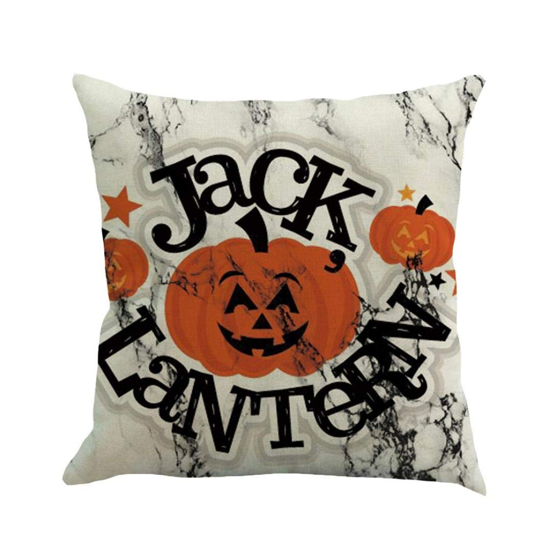MaxFox Halloween Fall Yall Throw Pillow Cover 18 x 18 Inch Flax Pillow Cover for Office Sofa Bedroom Car Decor