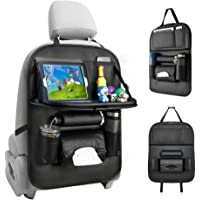 Tsumbay Car Seat Organizer with Foldable Table Tray