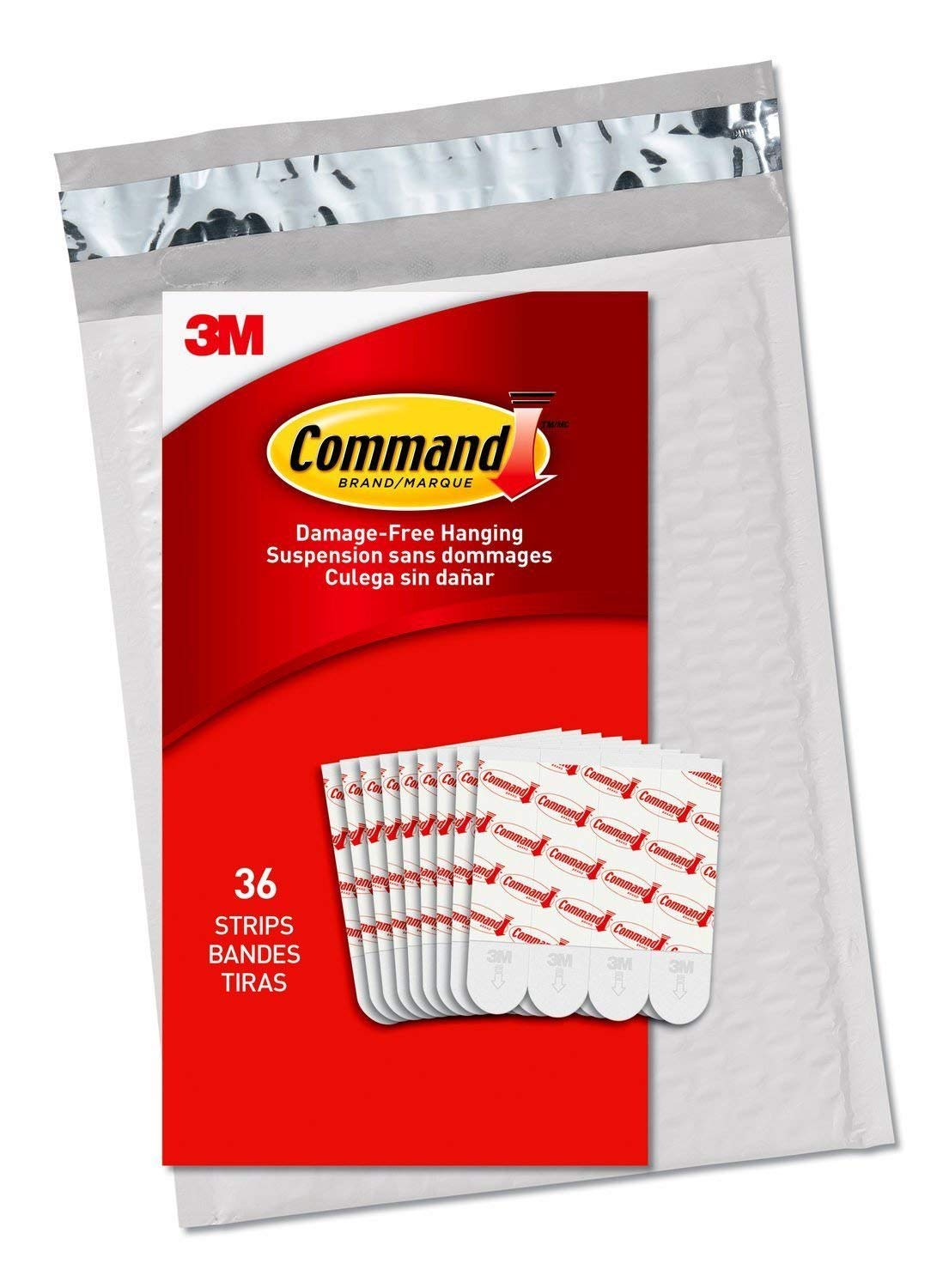 17022-ES Indoor Small hooks Command Hanging picture Replacement 20 Strips
