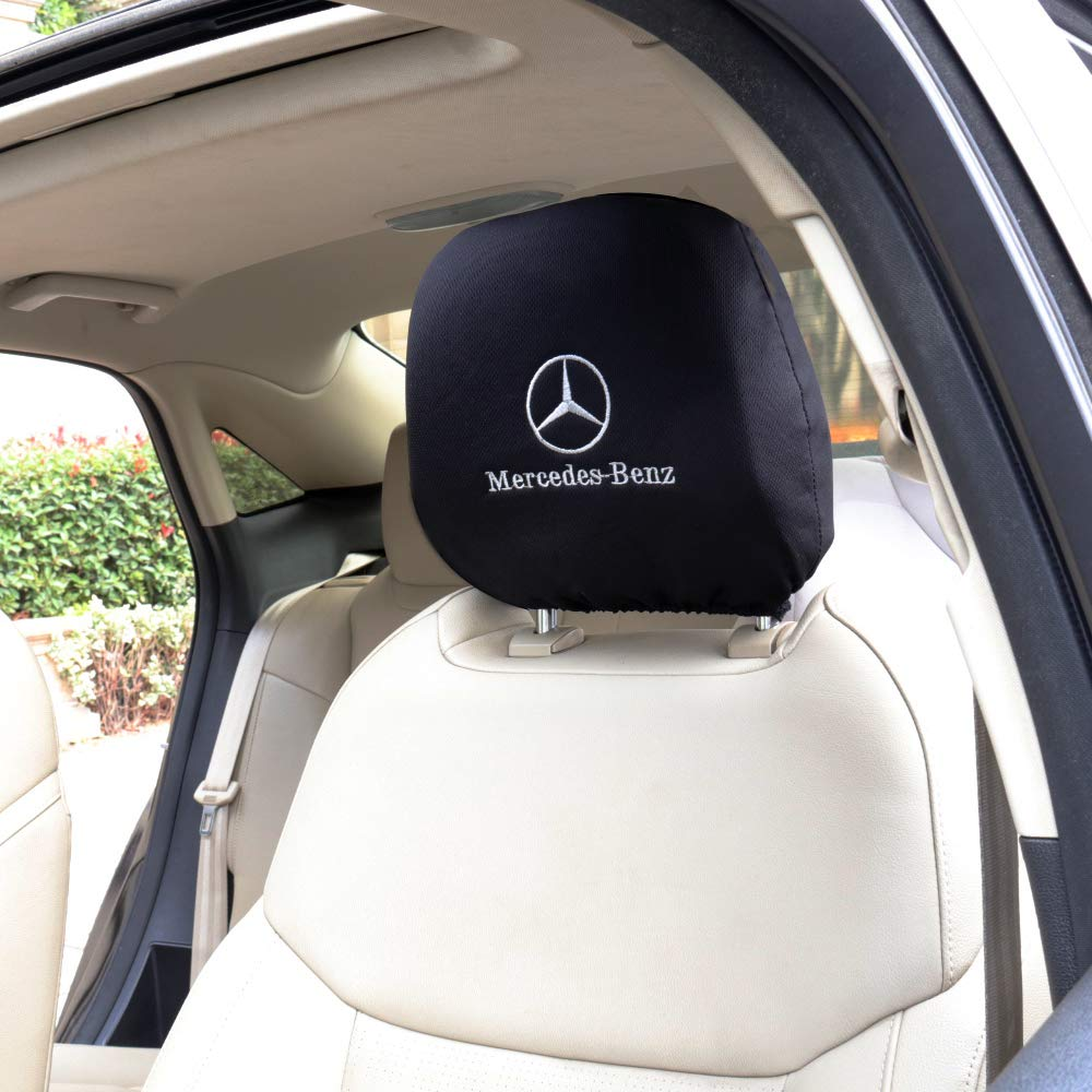 Car concentration camp 2PCS Headrest Covers for Lexus Black Comfortable Embroidery Logo Head Rest Covers for Lexus Vehicles Embroidery Lexus