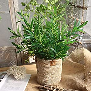 Artificial Olive Leaves Home Fake Flowers Wedding Simulation Plant Foliage Grass Bush Party Garden - Artificial Plants 34