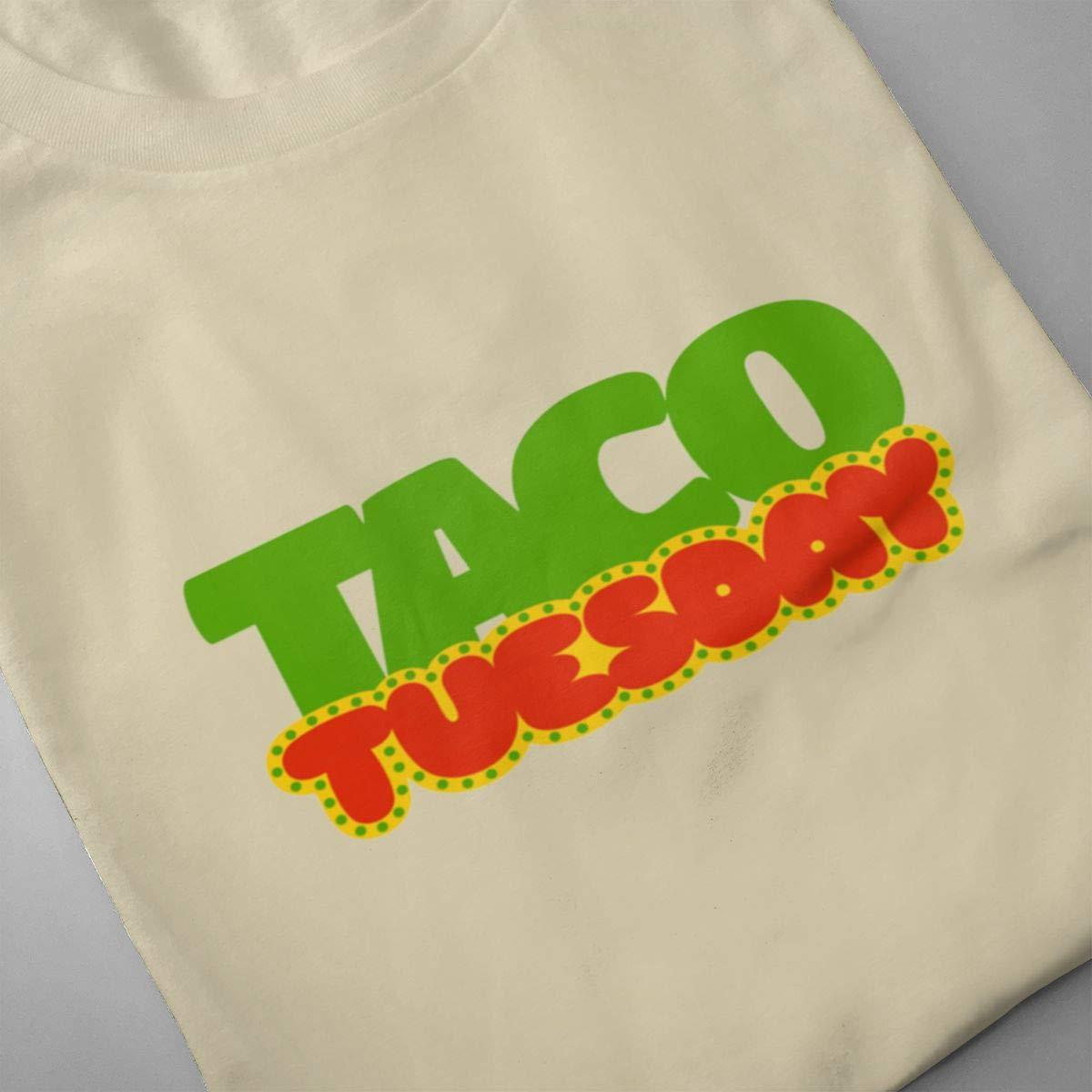Seuriamin Taco Tuesday Mens Humor Running Short Sleeve Shirts