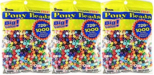 Pony Beads Multi Color 3000