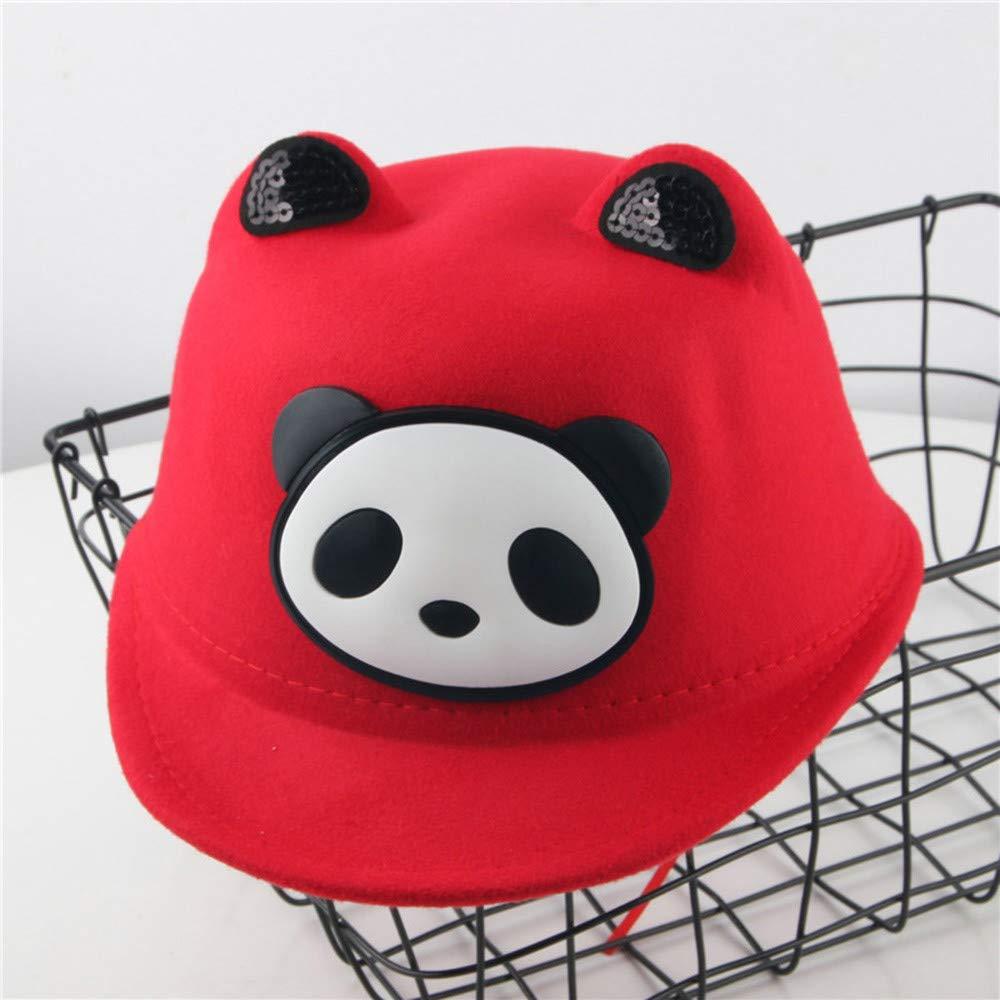 Toddler Baby Peak Baseball Cap Vinjeely Boys Girls Cute Cartoon Panda Warm Winter Hats