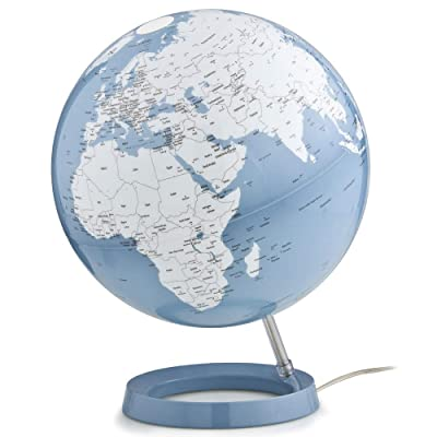 Waypoint Geographic Light & Color Designer Series 12-inch Illuminated Decorative Desktop Globe (Blue): Office Products