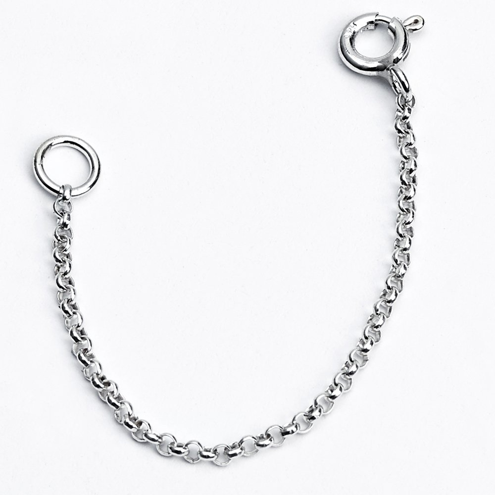 925 Sterling Silver 2 3 4 5 6 Thin 1mm Dainty Necklace Extender Chain Azaggi 420-ext