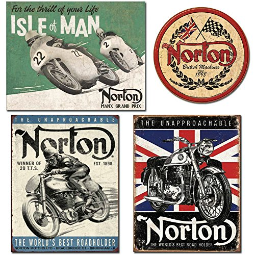 Motorcycle Biker Metal Sign - 5