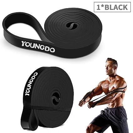 Youngdo Bandas de Resistencia Cintas Elásticas Fitness para Musculación, Yoga, Crossfit, Entrenamiento de Fuerza, Pilates, Fisioterapia Material de ...