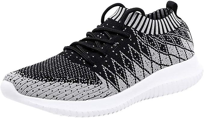 Zapatillas Running para Hombre Zapatos Deportivas ultraligeras Tejidas en Sneakers Net para Estudiante Volar Zapatos Ligero y Comodo Verano 2019 Sports Shoes riou: Amazon.es: Zapatos y complementos