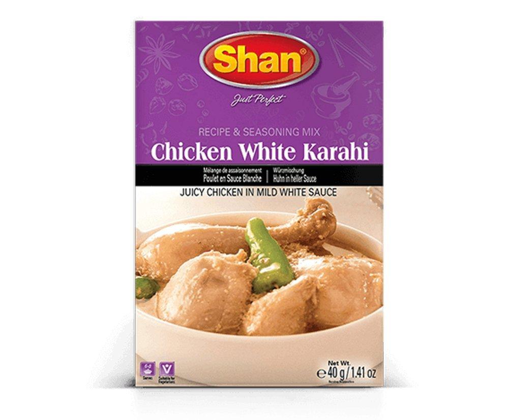 Shan Chicken White Karahi Spice Mix - Pack of 6 (1.41 Oz. Ea.)