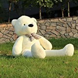 Joyfay® 160cm Giant Teddy Bear 63 (5.3 feet) White Big Teddy Bear XXL Extra Large Plush Bear Toy Best Gift for Birthday Christmas Valentine Anniversary by JOYFAY