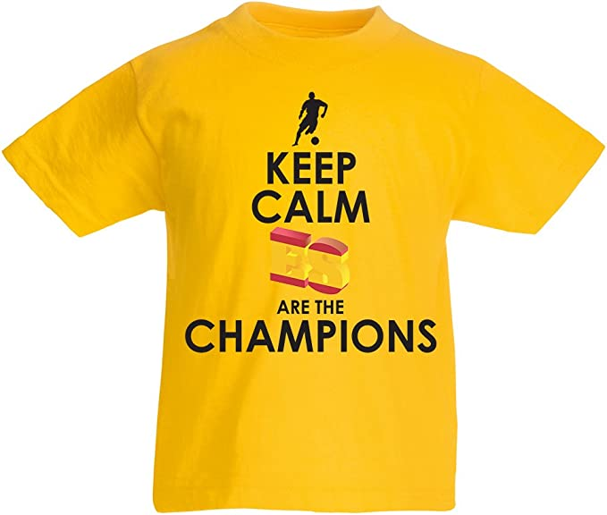 lepni.me Camiseta Niños/Niñas Españoles Son los campeones, Campeonato de Rusia 2018, Copa del Mundo - Equipo del fútbol de Camisa del admirador de España: Amazon.es: Ropa y accesorios