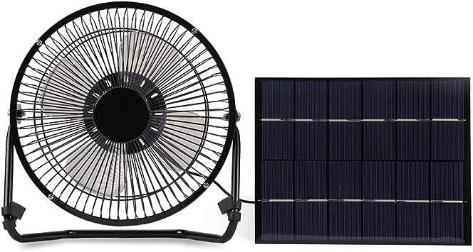 Nikou Ventilador Solar: Mini Ventilador portátil con Panel Solar ...