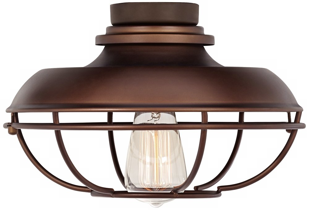 Franklin Park Oil-Rubbed Bronze Damp Ceiling Fan Light Kit by Universal Lighting and Decor