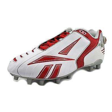 Reebok PRO Pump BURNERSPD Low M2 Mens Football Cleats White RED 11 1244f6e3a