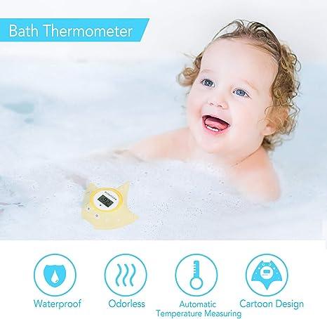 jouet s/ûr pour b/éb/és thermom/ètre de bain flottant pour baignoire et piscine nourrissons et enfants nouveau-n/és dessin de poisson jaune Outlook Thermom/ètre de bain et de chambre Acculove pour b/éb/é