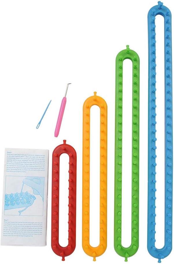 BlueRCKing Weaving Loom Knitting Knitter Kit Plastic Long Weaving Tool for Sock Hat Scarf Scarves DIY M