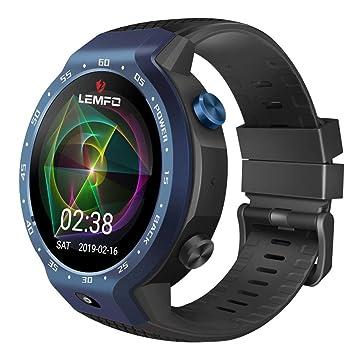 Skryo👍👍 LEMFO LEM9 Dual 4G Android 7.1 1.39 pulgadas 454X454 Pantalla 5MP 600mAh Smartwatch (Blue)