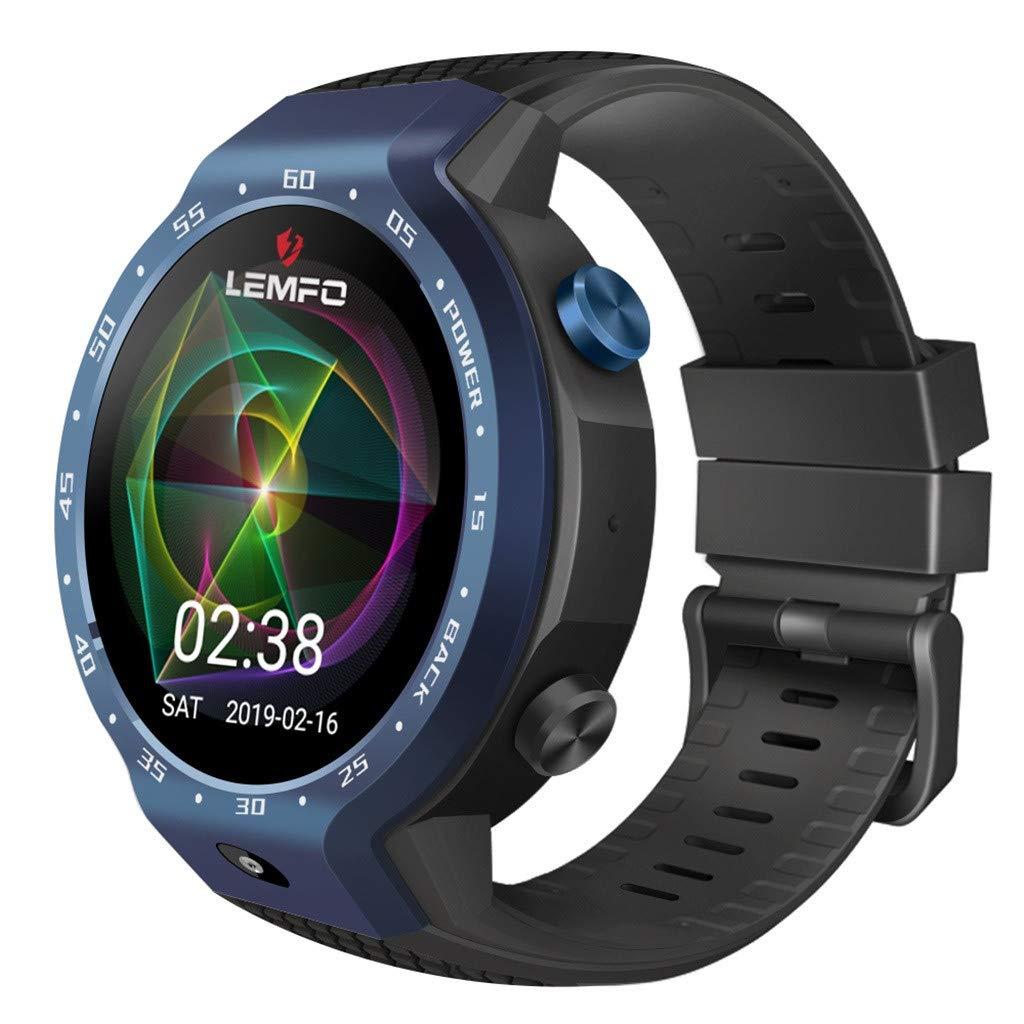 POJIETT Reloj Inteligente Tarjeta SIM para Niños Hombre Pulsera Actividad Monitor de Frecuencia Cardiáco Podómetro Llamadas Fitness Tracker with Heart Rate ...